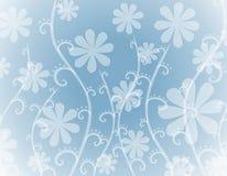 背景蓝色花不透明的白色 皇族释放例证