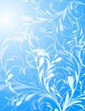 背景蓝色花卉向量 库存例证