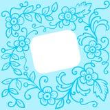 背景蓝色花卉 库存例证