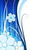 背景蓝色花 向量例证