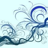 背景蓝色被遮蔽的漩涡 免版税库存图片
