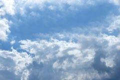 背景蓝色覆盖天空 免版税库存图片