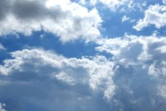 背景蓝色覆盖天空 图库摄影