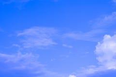 背景蓝色覆盖微小的天空 免版税库存图片