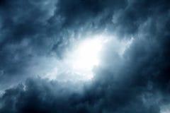 背景蓝色覆盖cloudscape天空 免版税库存照片
