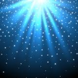 背景蓝色设计落的例证光亮光芒雪担任主角您 库存例证