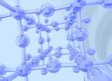 背景蓝色轻科学 皇族释放例证