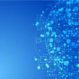 背景蓝色连接数互联网技术 库存图片