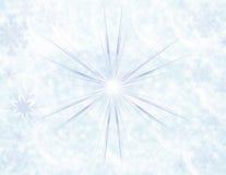 背景蓝色闪闪发光冬天 图库摄影