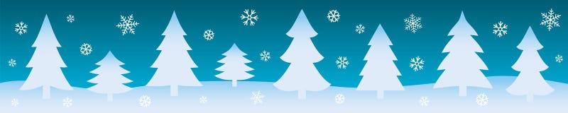背景蓝色雪花白色冬天 圣诞节网横幅 也corel凹道例证向量 向量例证