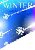 背景蓝色雪花白色冬天 抽象背景蓝色口气 皇族释放例证