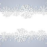 背景蓝色雪花白色冬天 皇族释放例证