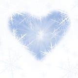 背景蓝色雪 免版税库存照片