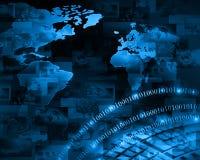 背景蓝色颜色概念互联网 免版税库存图片