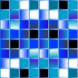 背景蓝色马赛克向量 免版税库存图片