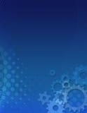 背景蓝色齿轮 免版税库存照片
