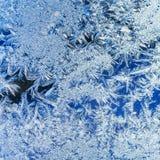 背景蓝色水晶冰天空视窗 免版税库存照片
