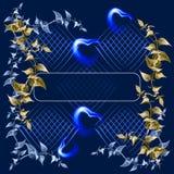背景蓝色黑暗的无限 免版税图库摄影