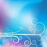 背景蓝色紫色漩涡 免版税库存图片