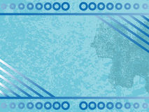 背景蓝色grunge 皇族释放例证