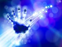 背景蓝色handprint技术