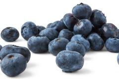 背景蓝莓查出白色 库存照片