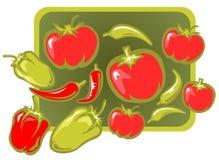 背景蔬菜 向量例证