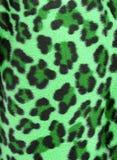 背景虚假毛皮绿色豹子 免版税图库摄影