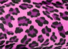 背景虚假毛皮豹子粉红色 库存照片