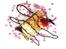 背景蛋糕可口白色 图库摄影