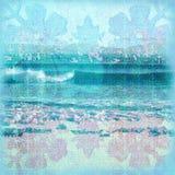 背景蜡染布海浪 向量例证