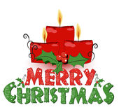 背景蜡烛圣诞节例证 免版税库存照片
