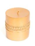 背景蜡烛圣诞节装饰礼品金黄xmas 库存图片
