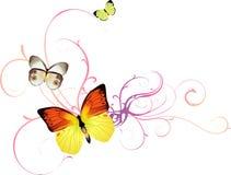 背景蝴蝶向量 免版税库存照片