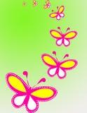 背景蝴蝶 免版税图库摄影