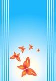 背景蝴蝶 向量例证
