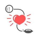 背景血液关心医生健康查出评定的耐心的压白色 图库摄影