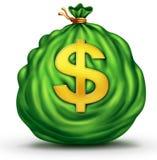 背景袋子图象grunge图象货币向量 皇族释放例证