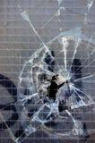背景被中断的玻璃 库存照片