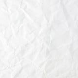 背景被弄皱的纸纹理白色 免版税库存照片