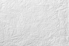 背景被弄皱的纸纹理白色 库存照片