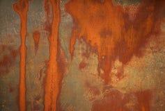 背景被弄脏的金属铁锈 图库摄影