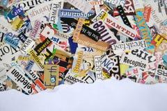 背景被撕毁的杂志纸张 库存照片