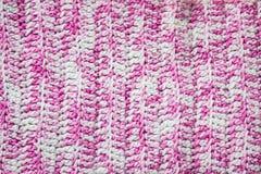 背景被编织的粉红色 被编织的纹理 样品编织 库存照片
