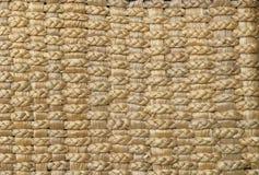 背景被编织的模式茅草屋顶 库存照片