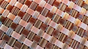 背景被编织的模式茅草屋顶 免版税库存图片