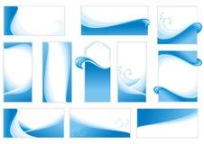 背景被设置的水 免版税图库摄影