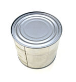 背景装闭合的罐子白色于罐中 库存照片