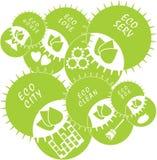 背景装饰图象风格化漩涡向量挥动 Eco抽象绿色传染媒介 免版税库存照片