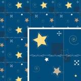 背景装饰晚上无缝的星形 图库摄影